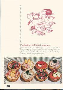 """1950_tarteletter med høns i asparges (Foto: Fra """"Husmoderens køkken i 19050'erne og 19060'erne)"""