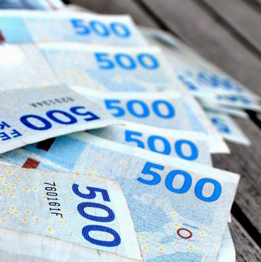 penge pengeseddel pengesedler økonomi (Foto Shutterstock)