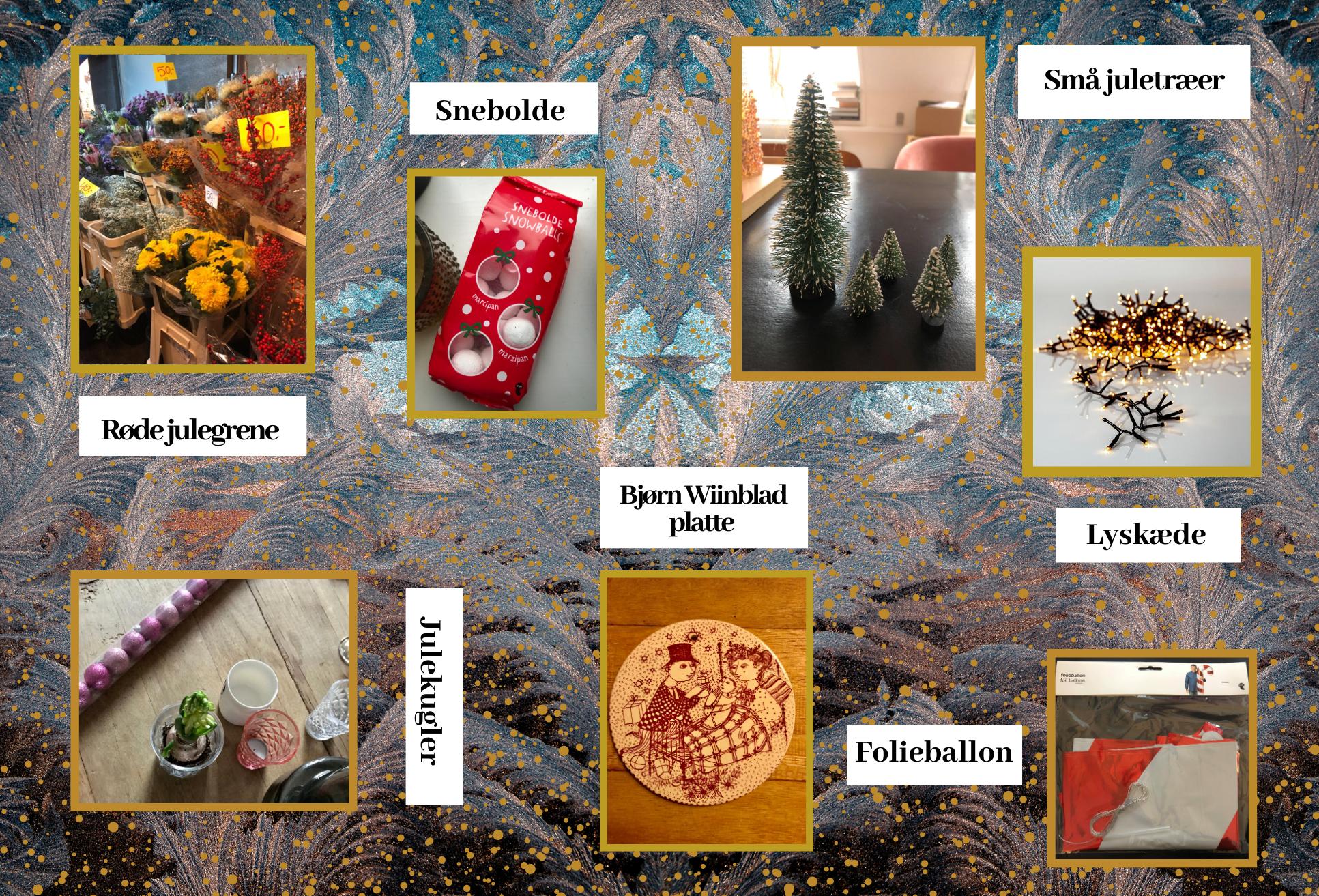 DIY, julegrene, snebolde, juletræer, lyskæde, folieballon, platte, julekugler, jul, pynt (Foto: MY DAILY SPACE)