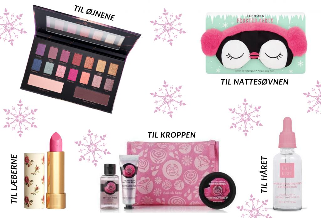 Decemberfund, beauty, øjenskygge, natbrille, læbestift, cream, hårolie (Foto: MY DAILY SPACE)