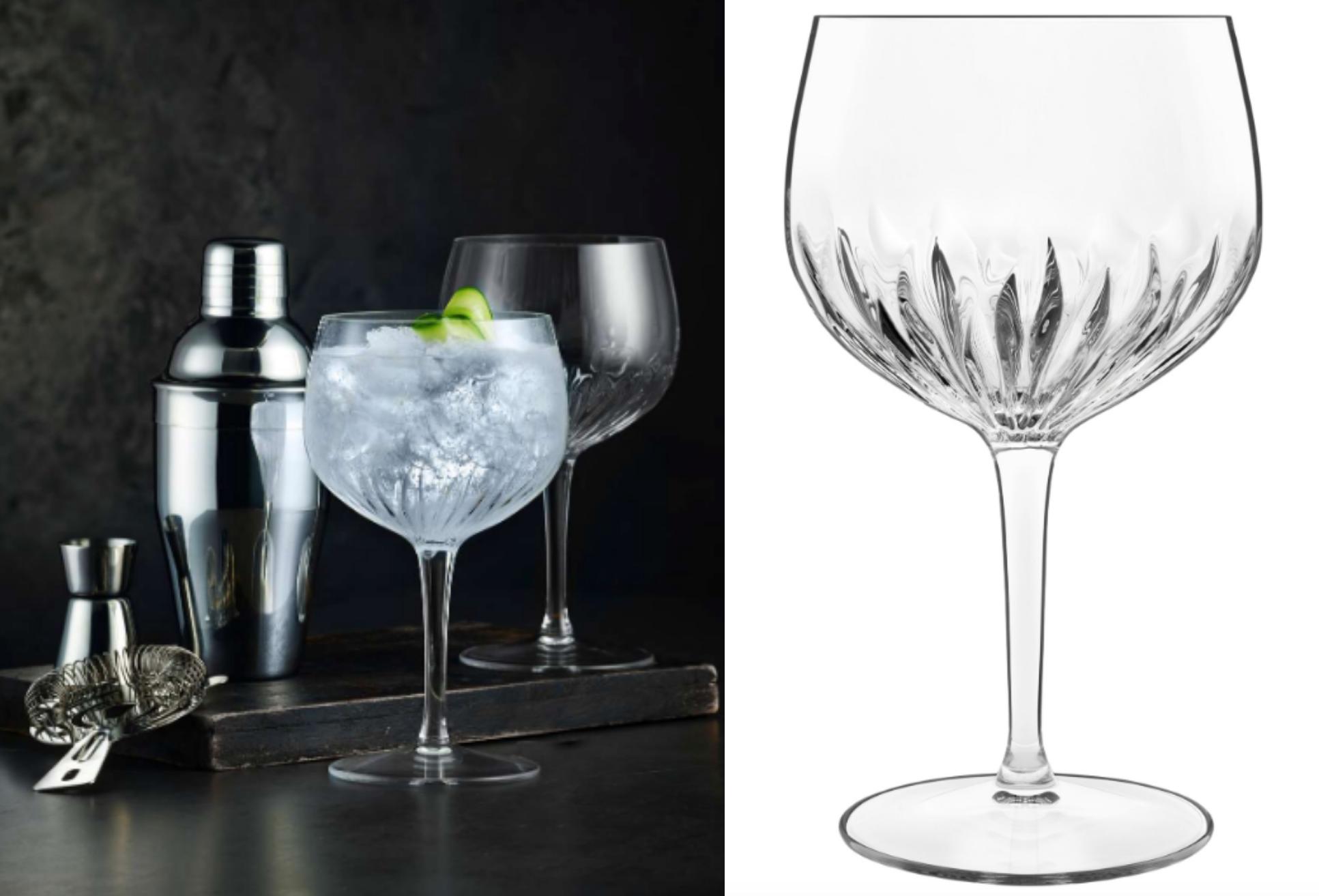 Gin og tonic glas, glas, krystalglas. (Foto: Magasin)