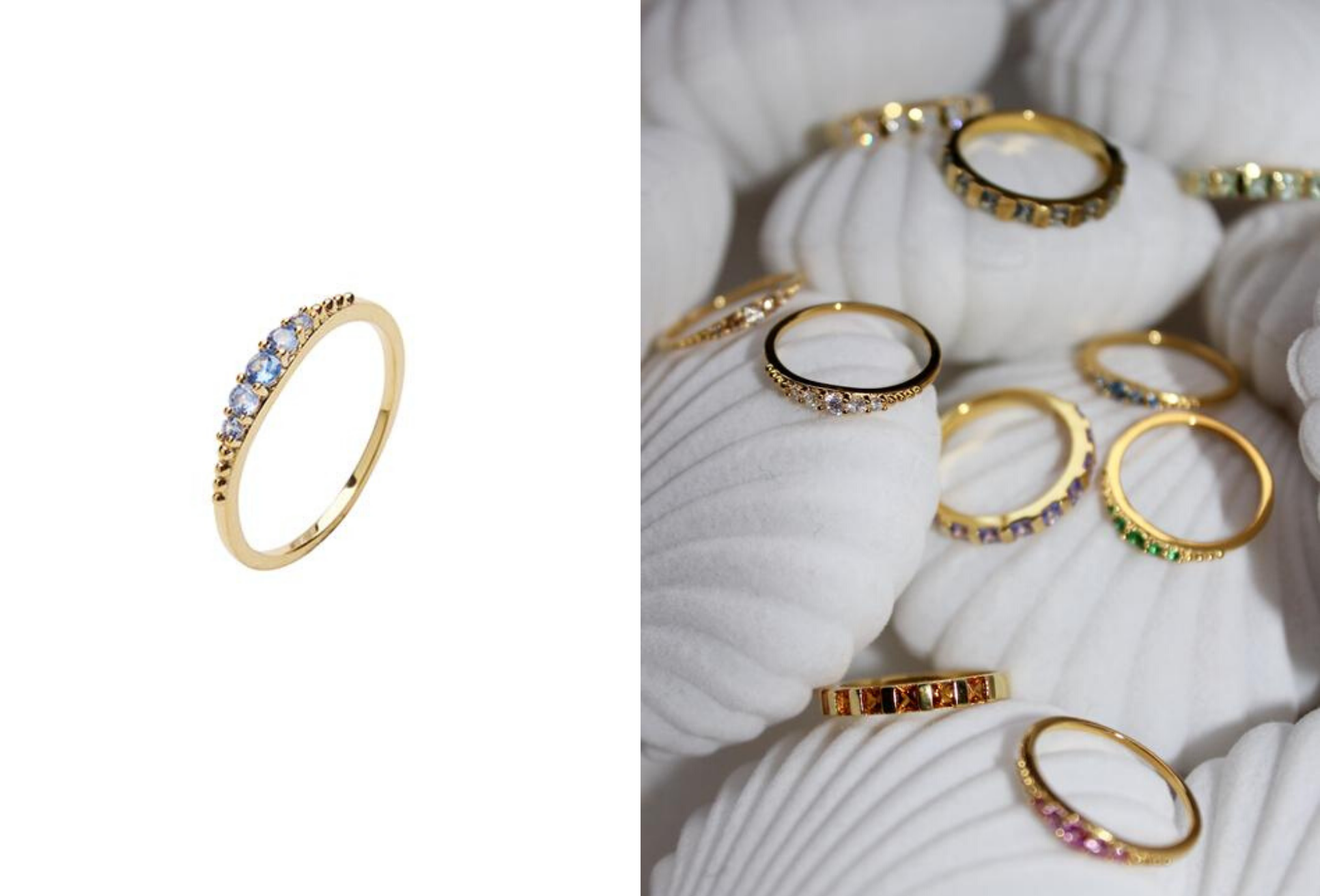 Pico ring, Pico, ring med sten, ring med blå sten, guldring. (Foto: Pico)