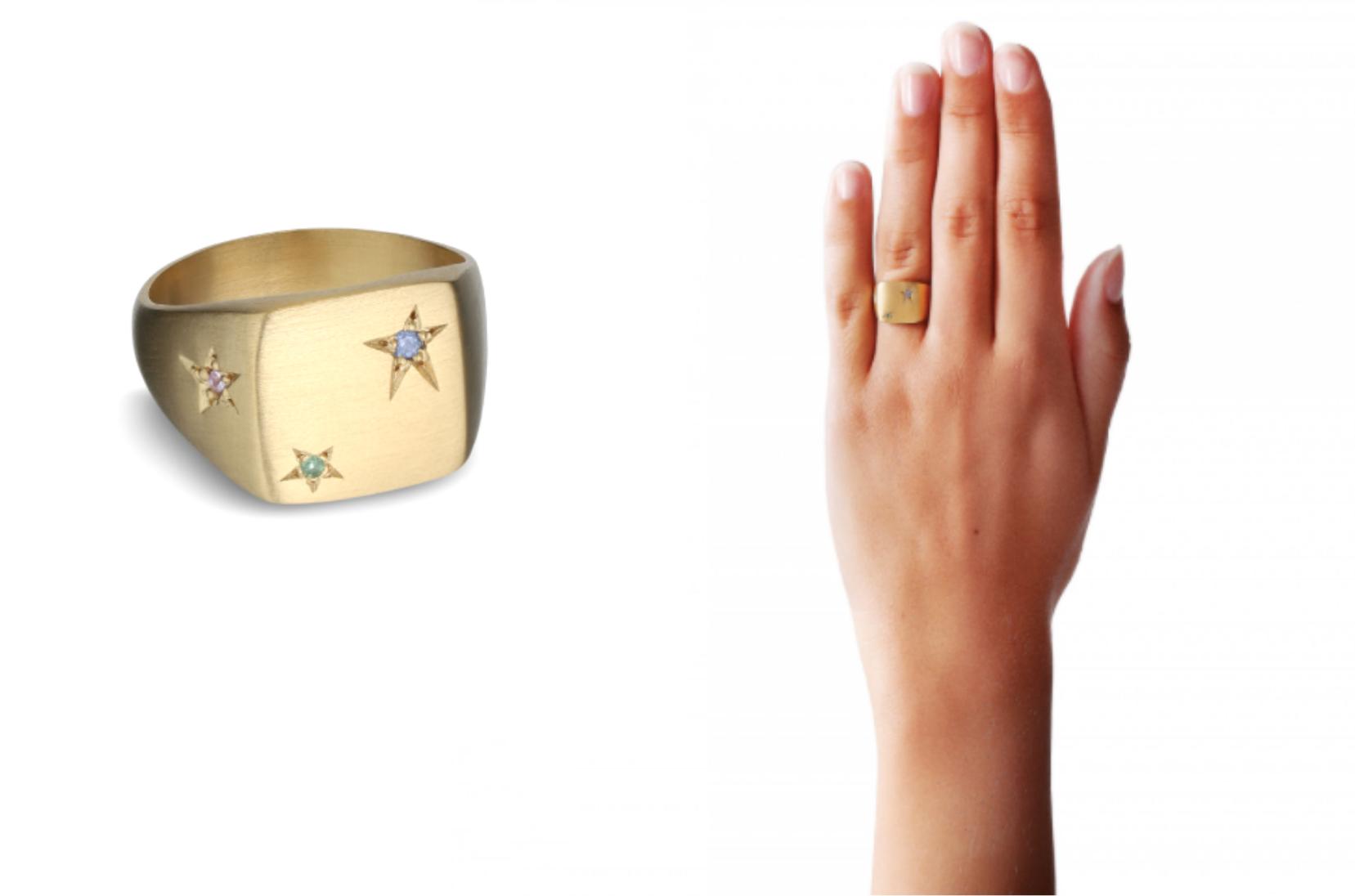 Ring, stjernering, Jane Kønig, guldring, ring med sten (Foto: Jane Kønig)