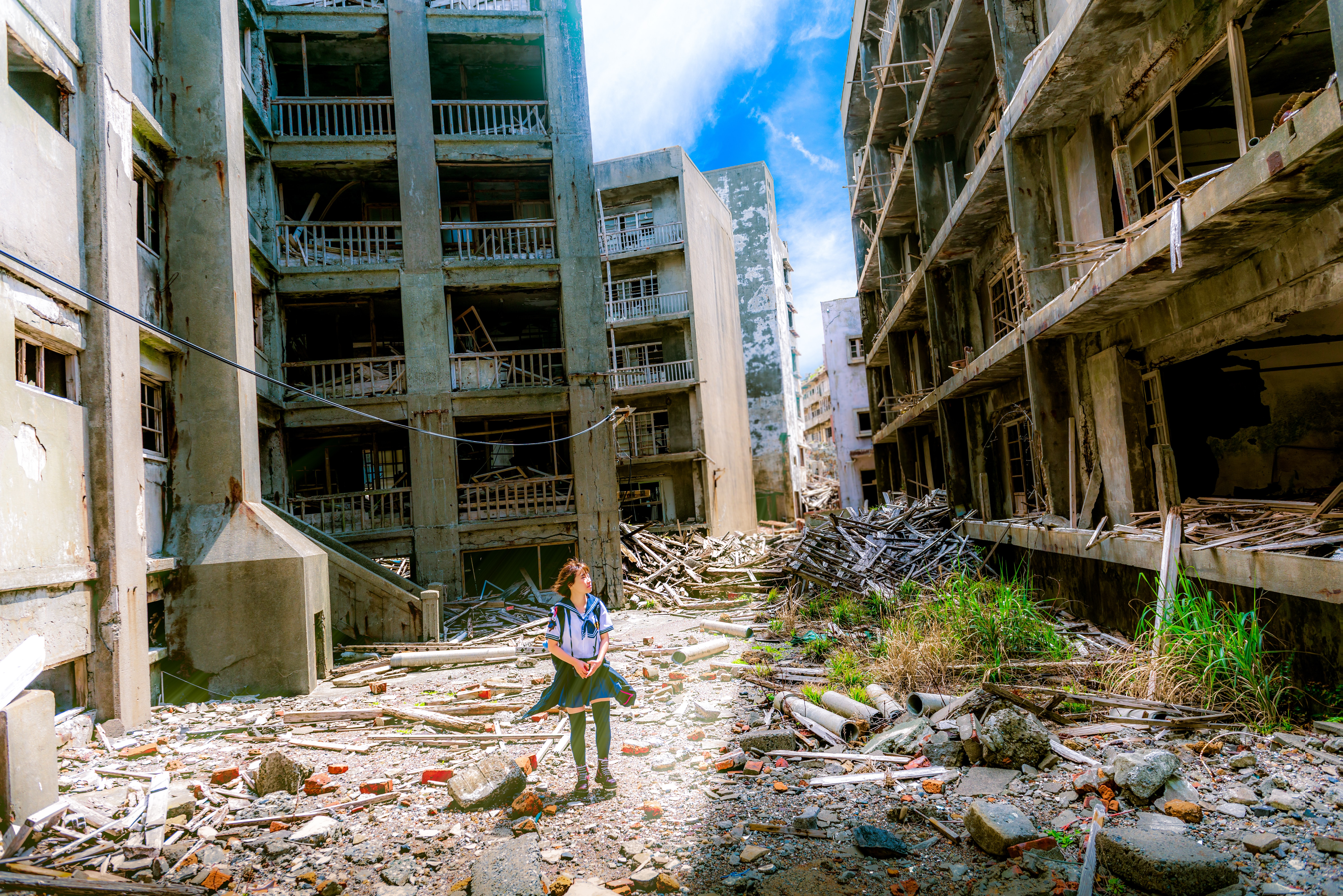 barn krig ruiner