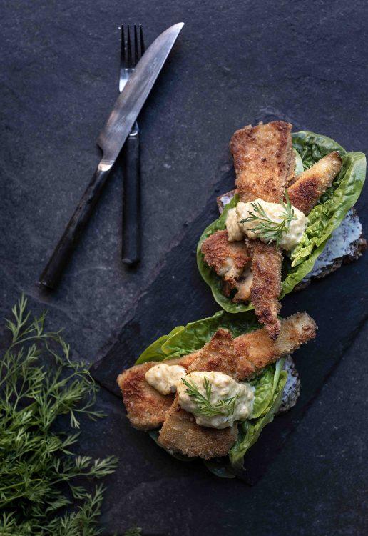 fisk remoulade thomas erex vegansk julemad (Foto: David Bering)