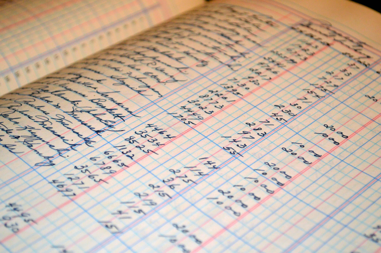 regnskab, tal, bogføring