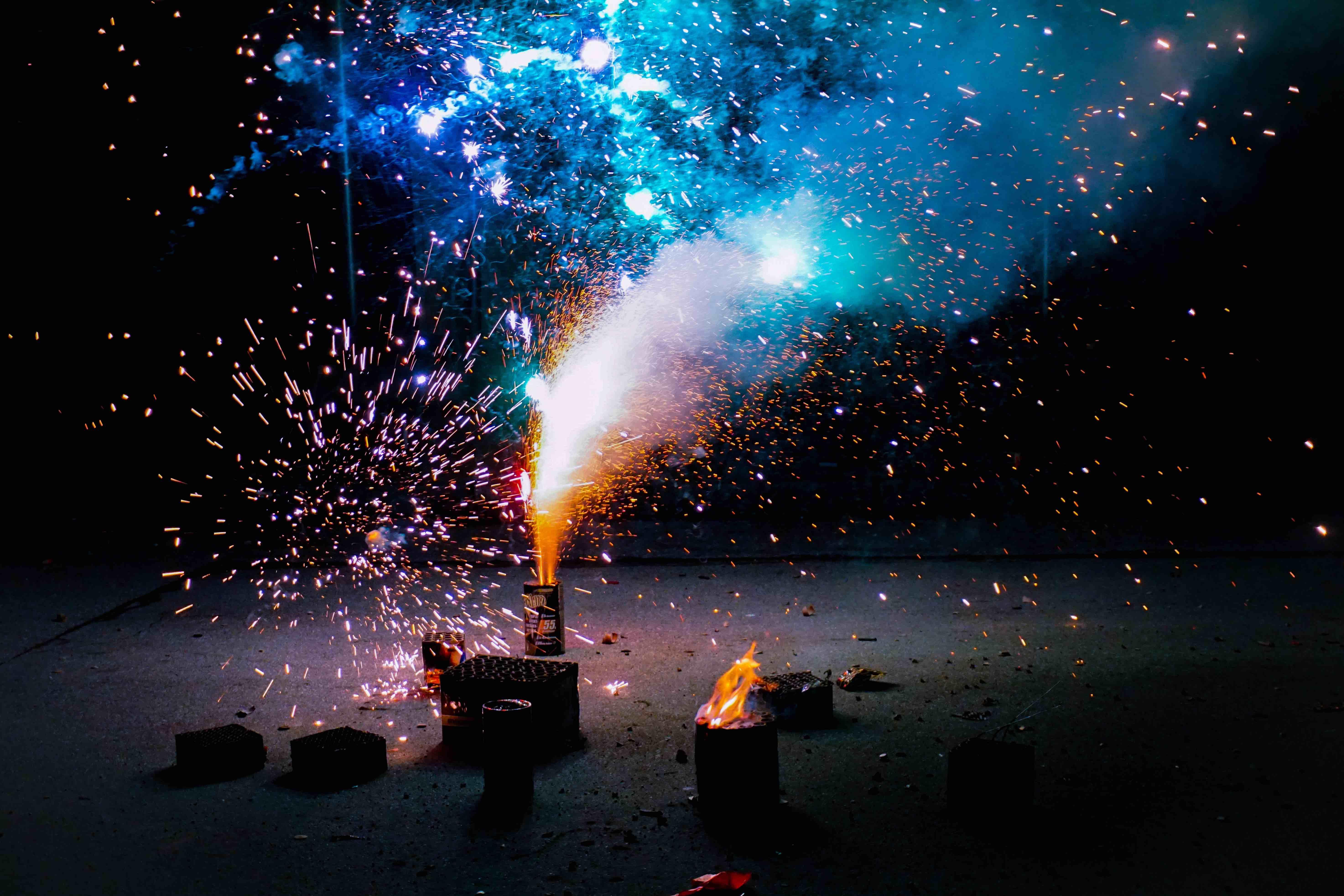 fyrværkeri, fireworks