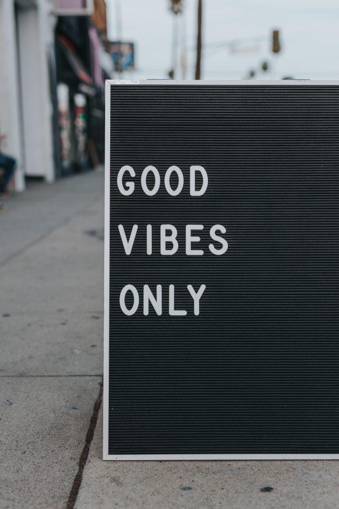 good vibes positiv stress gode vibrationer (Foto: Unsplash)