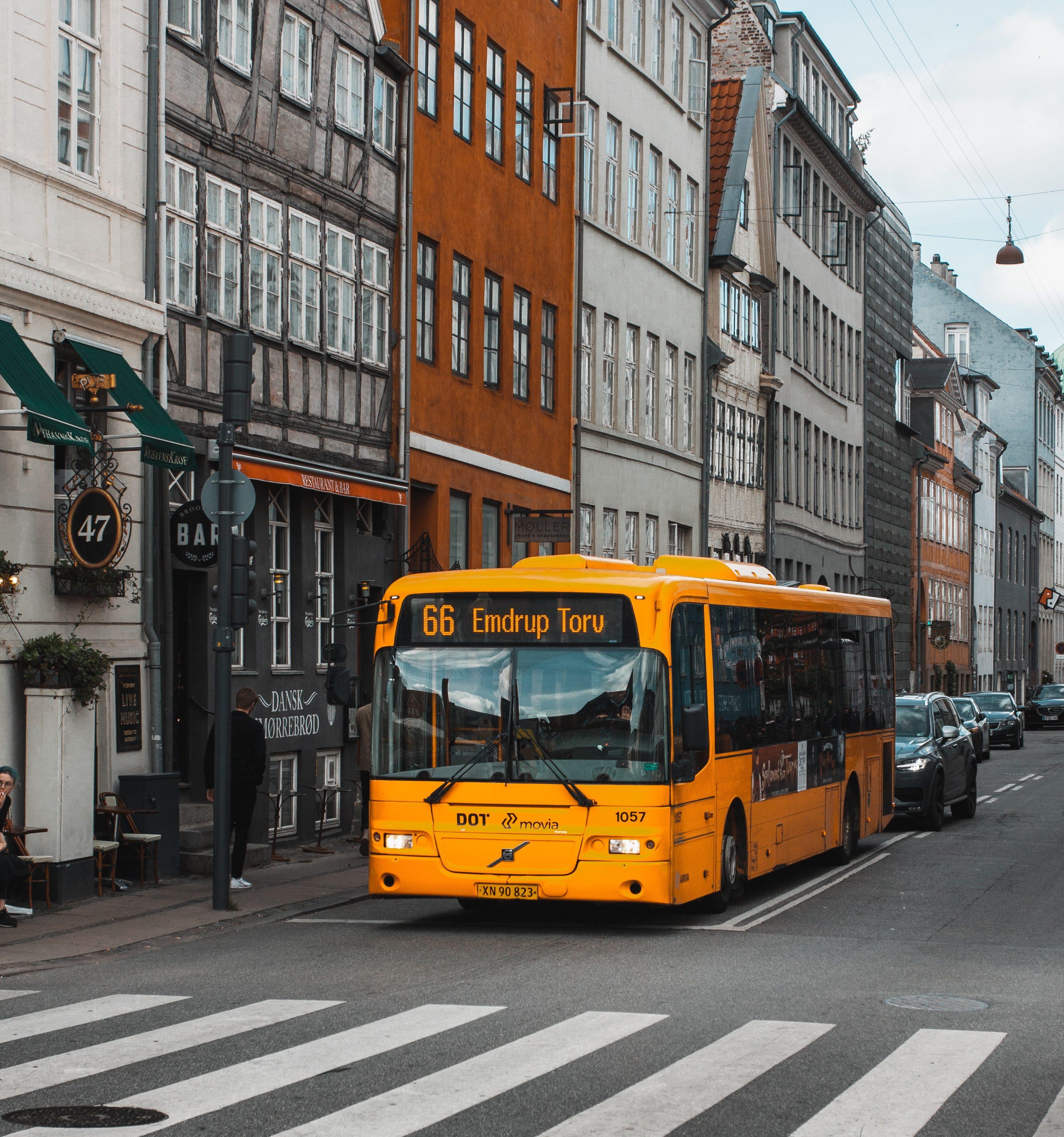 Selvkørende bus, bus, gul bus, københavn buslinje (Foto: Unsplash)