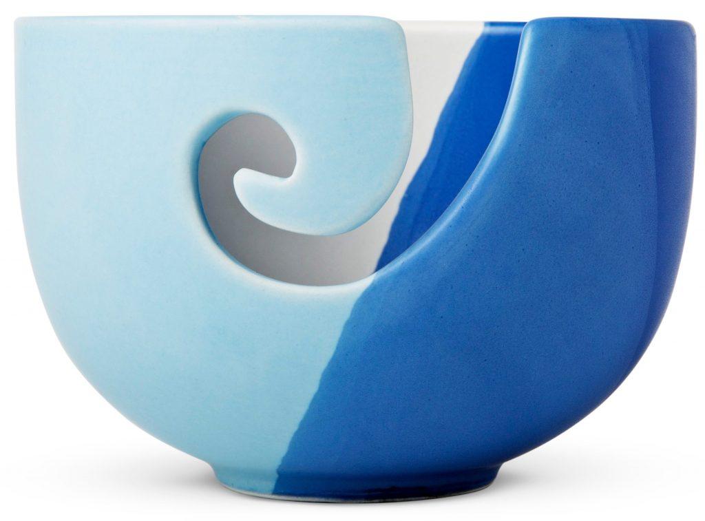garn bowle skål blå