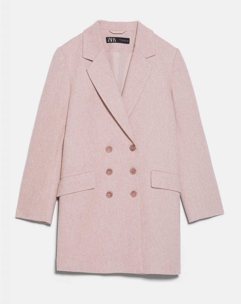 rosa frakke jakke lyserød (Foto: Zara)