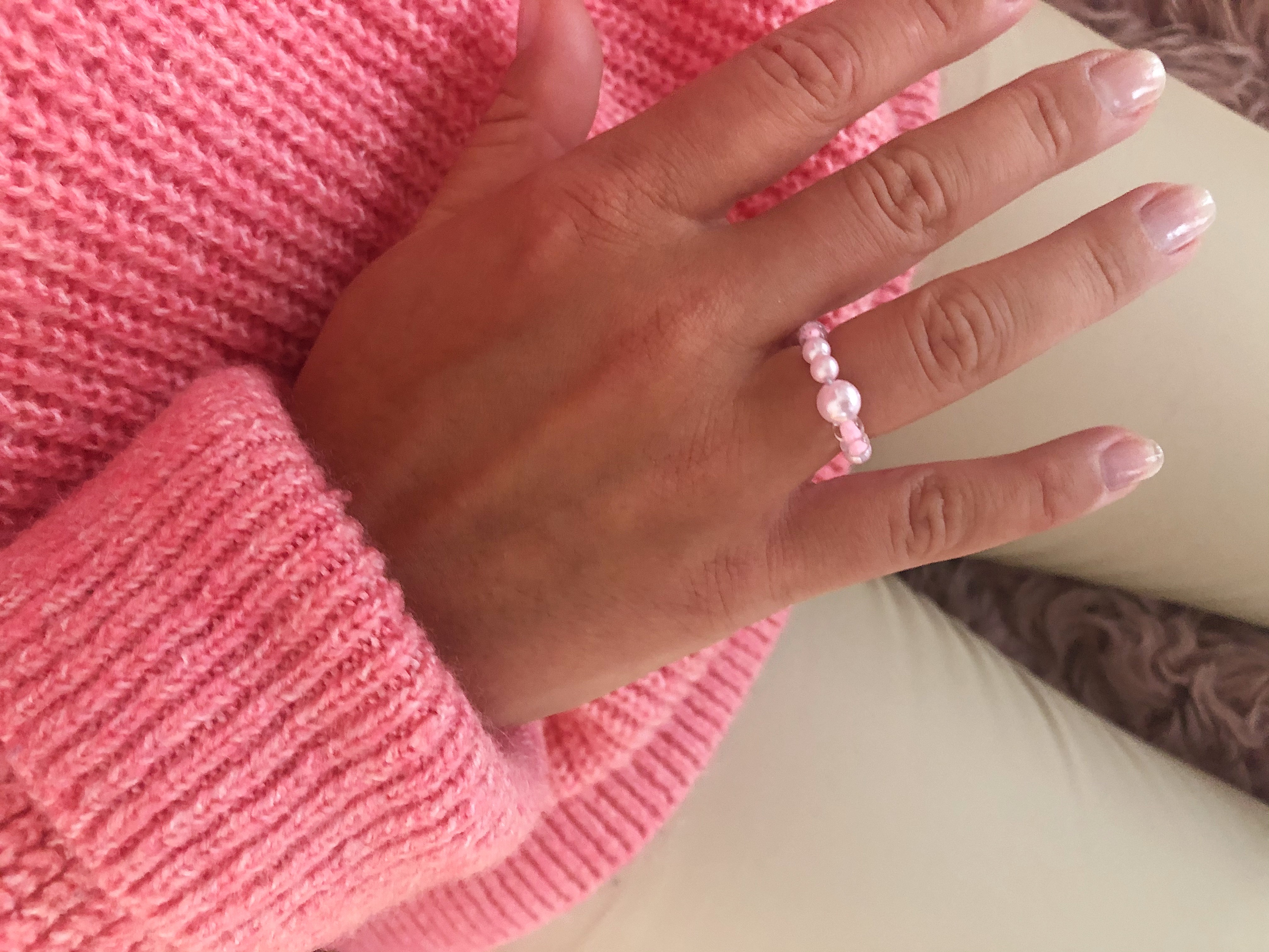 Ring, lyserød, DIY. (Foto: MY DAILY SPACE)