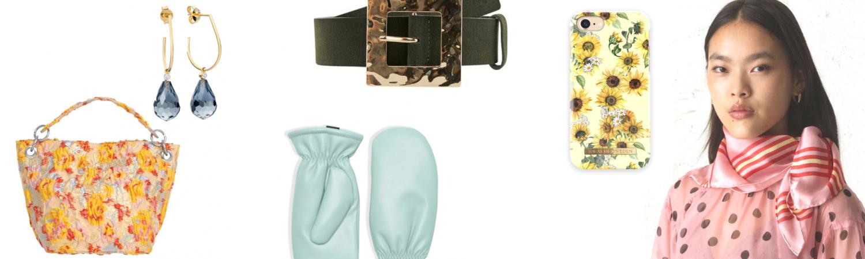 taske, øreringe, luffer, cover, telefon cover, bælte, tørklæde. (Kollage: MY DAILY SPACE)