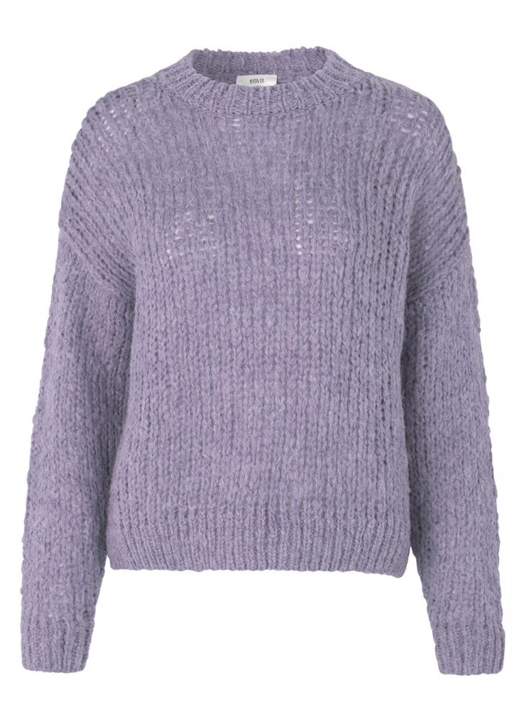 pastel lilla strik trøje (Foto: Envii)