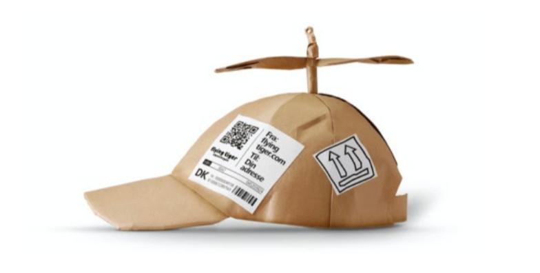 Flying Tiger, kasseemballage, genbrugspap, papkasse, kreativ design. (Foto: PR)