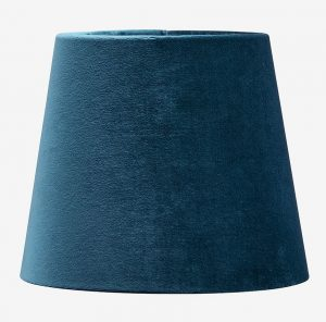 blå lampeskærm lampe (Foto: Ellos)