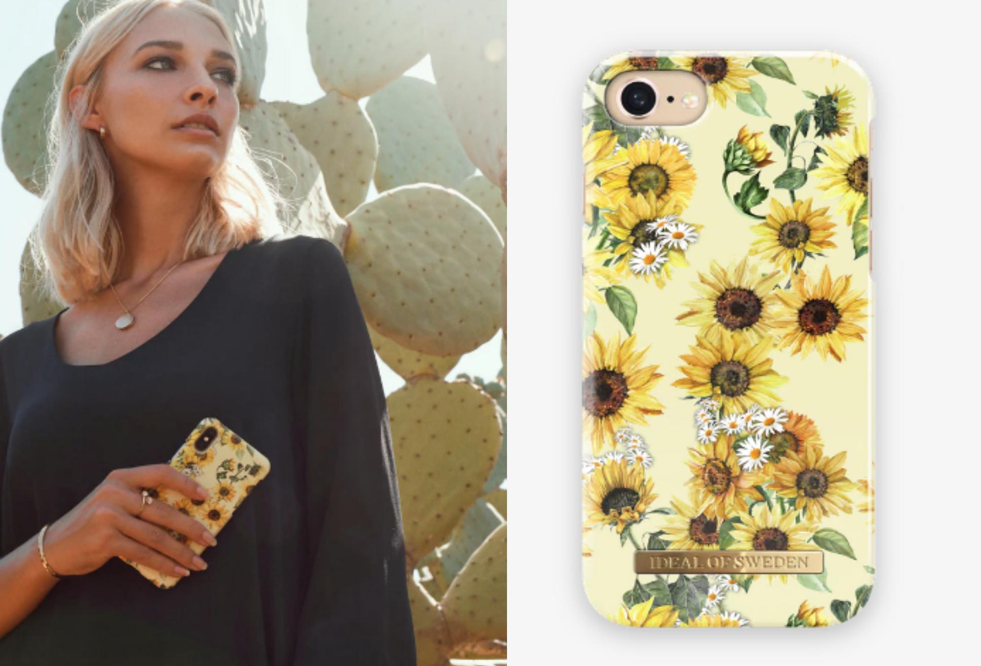 cover til telefon, blomster, solsikker. (Kollage: MY DAILY SPACE)
