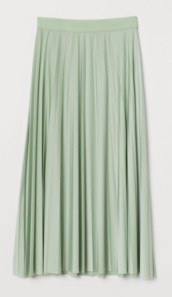 lysegrøn nederdel pastel (Foto: HM)