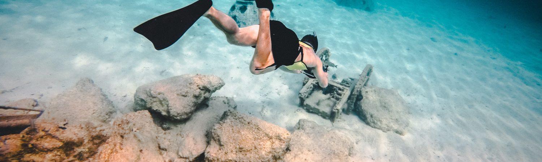 snorkling svømmefødder havet dykke (Foto: Unsplash)