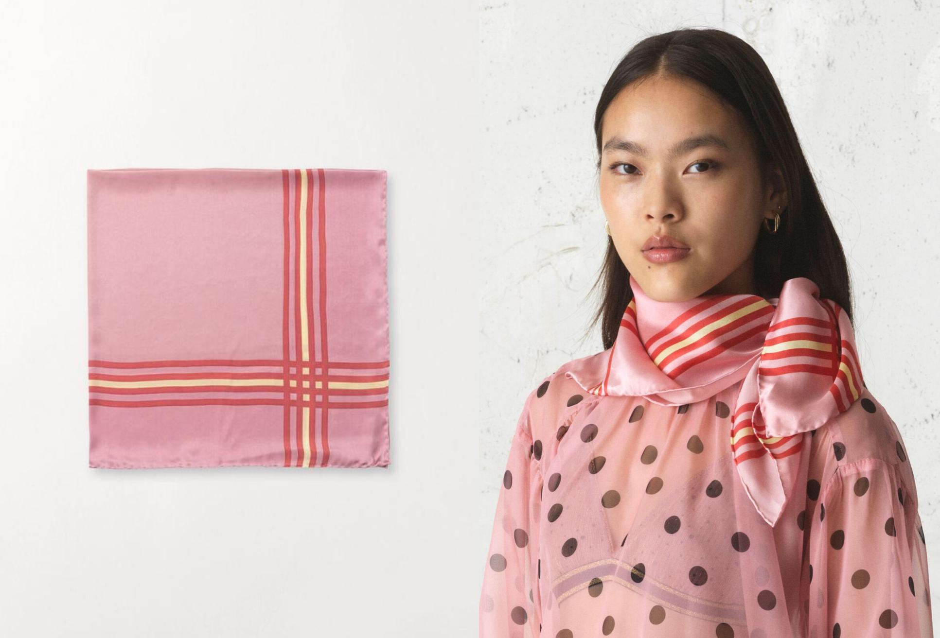 silketørklæde, silke, lyserødt, pink, accessories, (Kollage: MY DAILY SPACE)