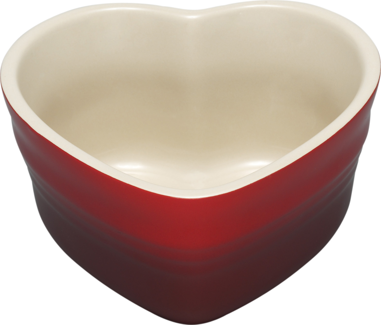 Hjertefad, Le Creuset, hjerteskål, rød, hjerte. (Foto: Magasin)