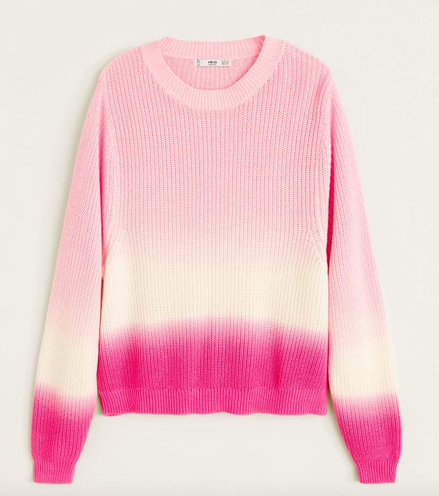 pink sweater, mango. (Foto: Mango)