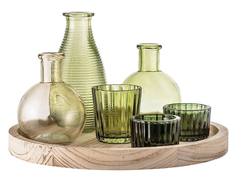 grøn, vase, sæt, indretning, indian, bolig. (Foto: bydahlliving)