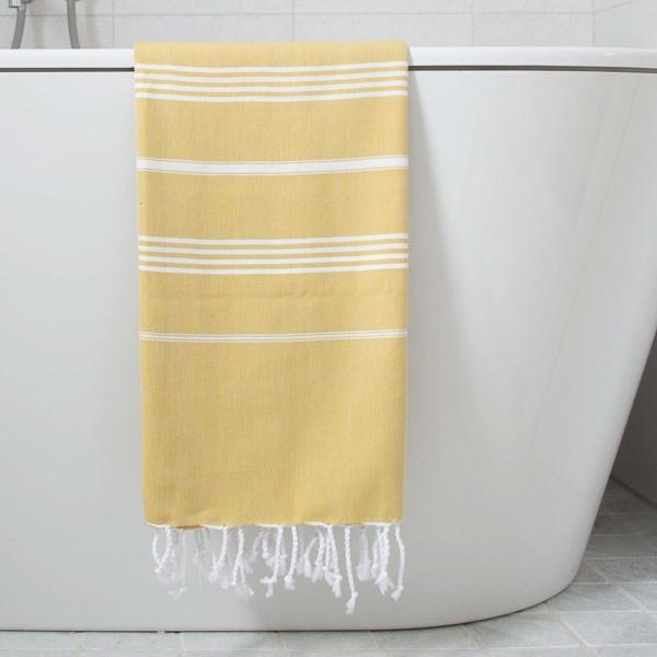 håndklæde, gul, indretning, bolig, indian. Foto: casa casino