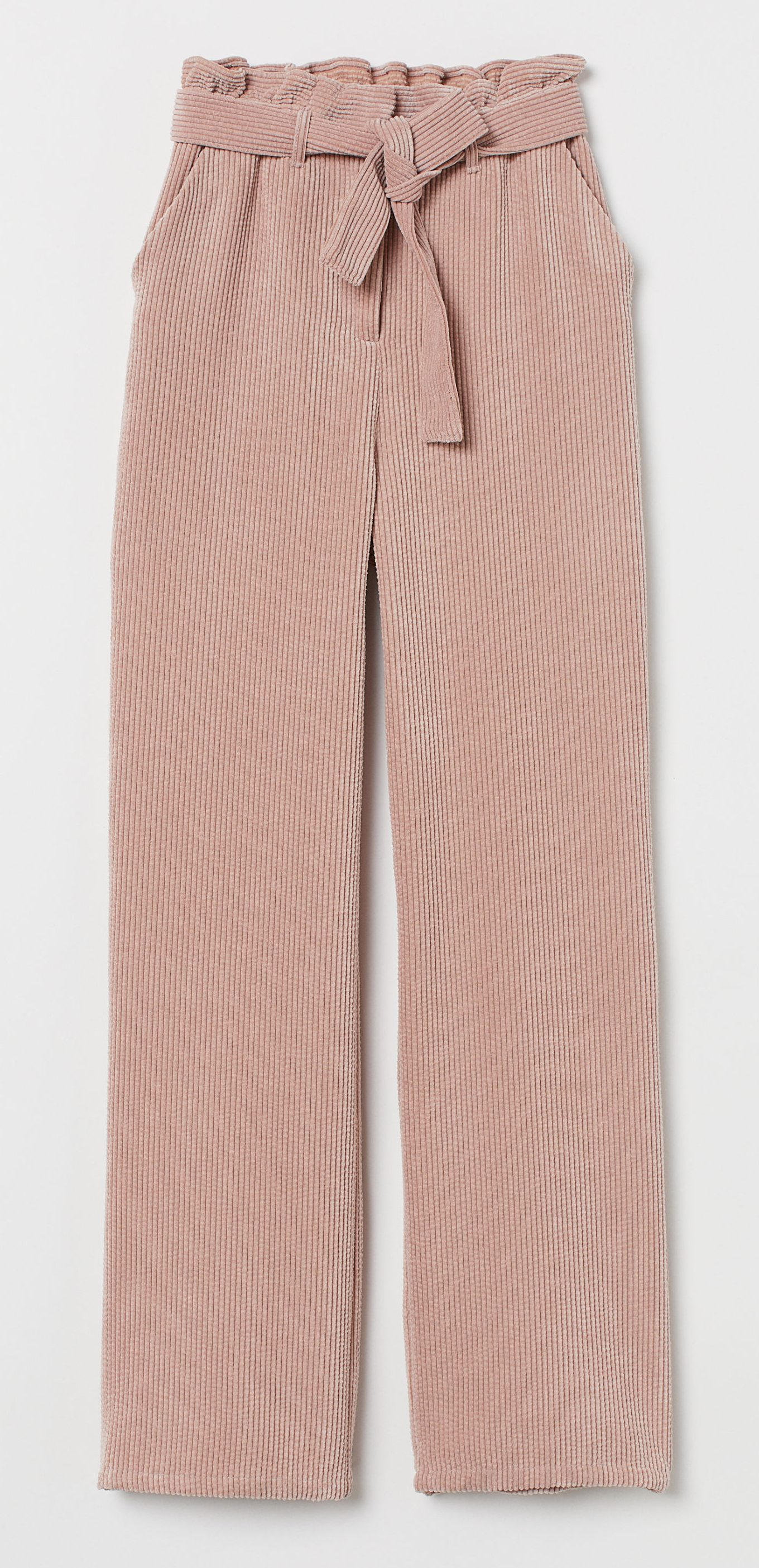 HM, lyserød, fløjl, fløjlsbukser. Foto: HM