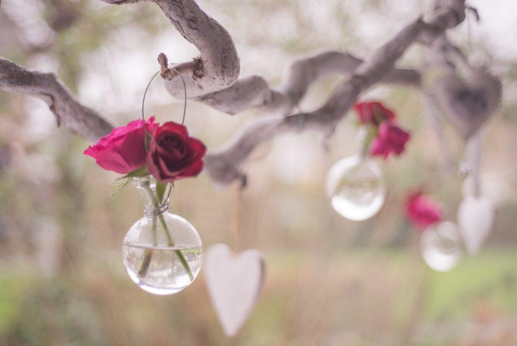 tre hjerte blomster valentinsdag (Foto: Pexels)