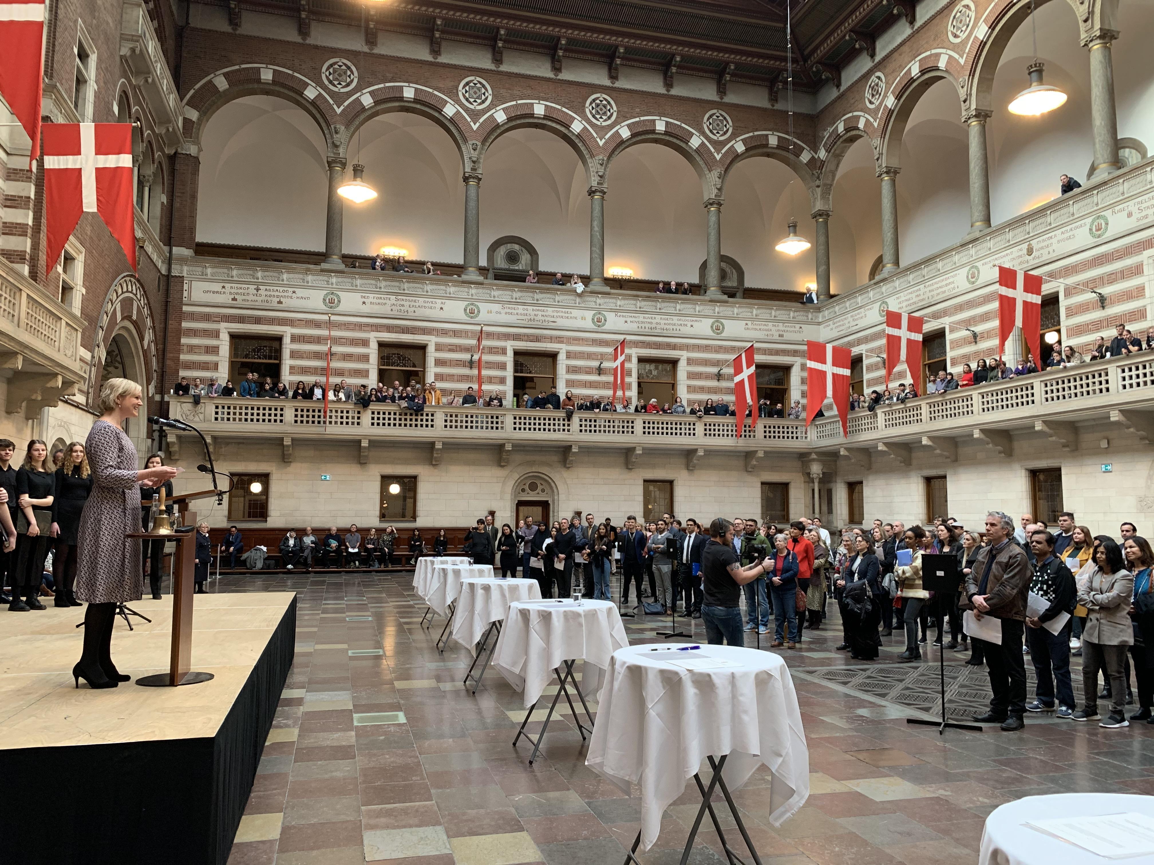 Nye danske statsborger, ceremoni. (Foto: Jakob Balthazar Munk)
