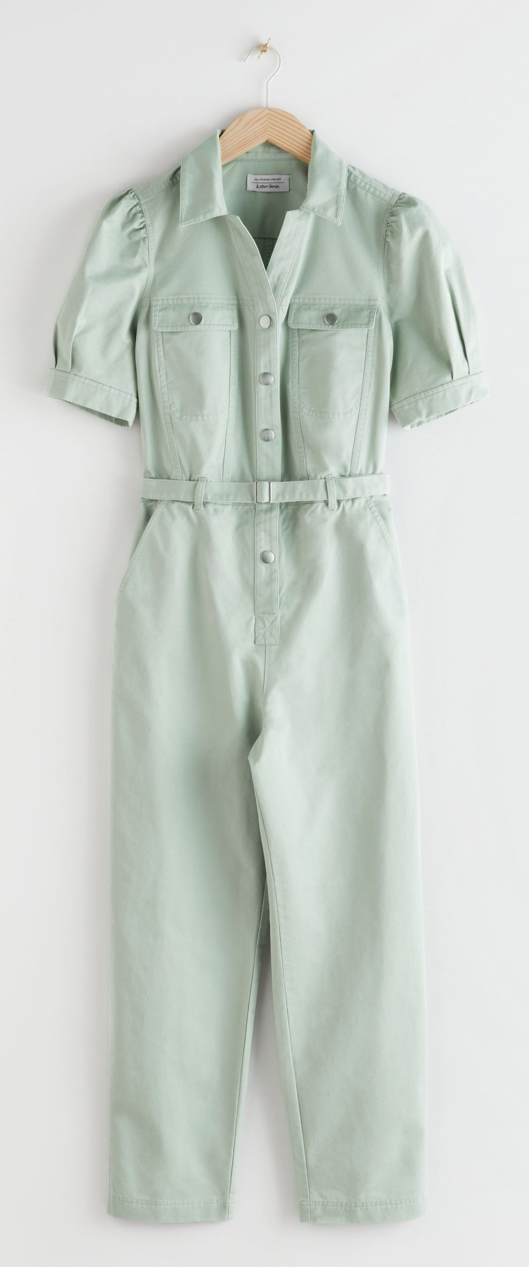 Denim buksedragt, mintgrøn. Foto: PR)