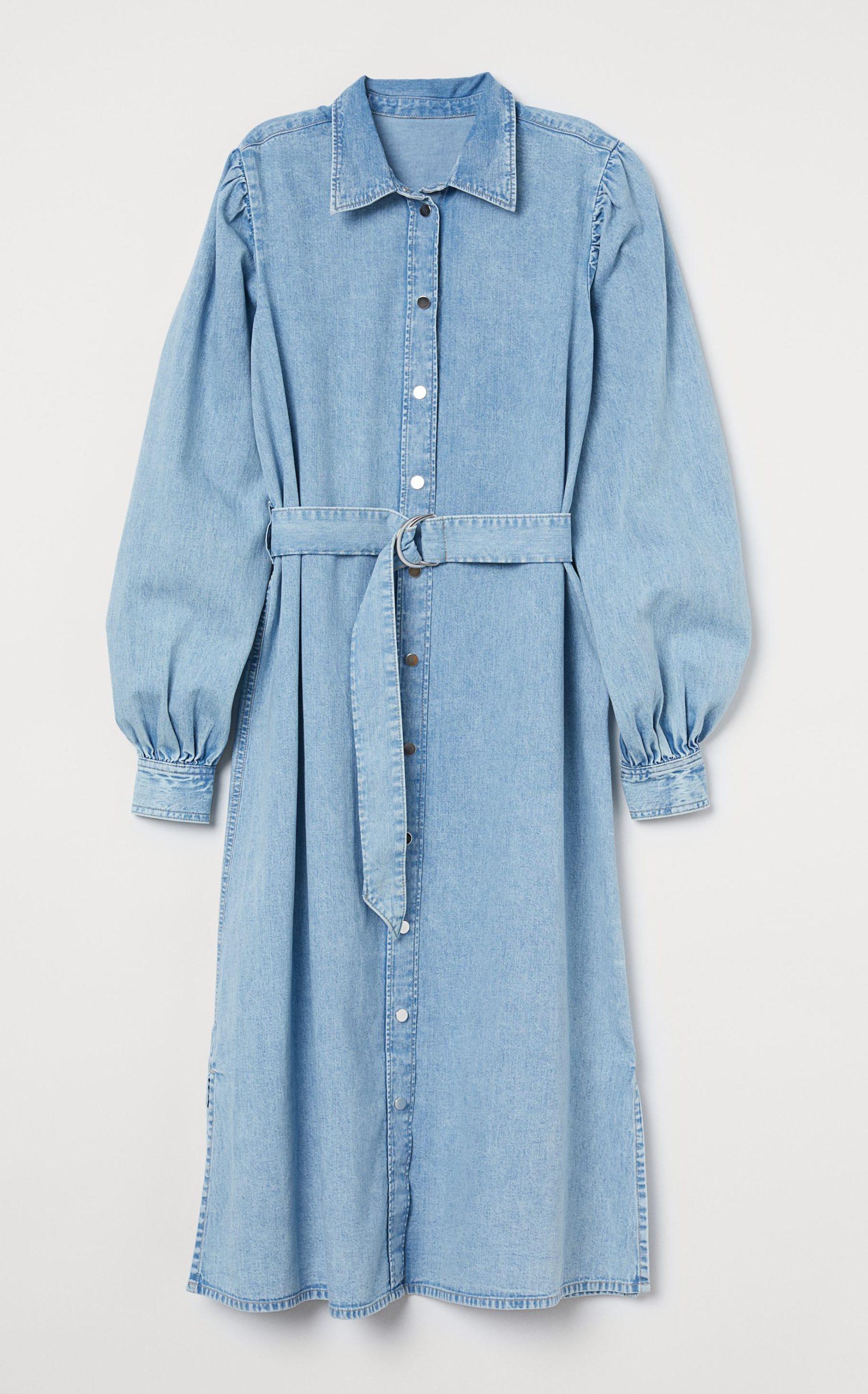 Blå denim kjole. Foto: PR)