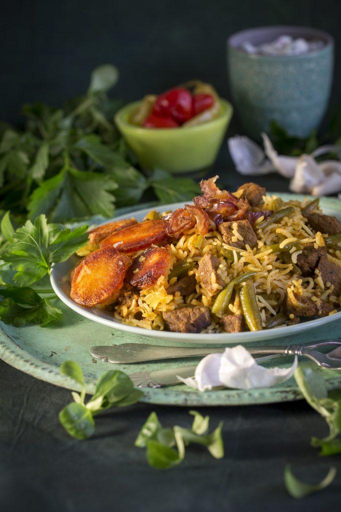 persisk ret ris bønner lam (Foto: Inge Lynggaard Hansen)