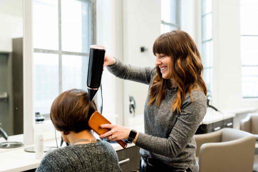 frisør, behandling, hår, frisure