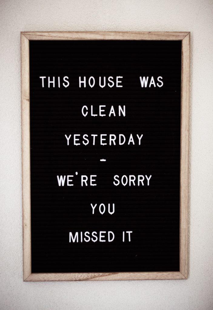 quote citat rengøring (Foto: Unsplash)
