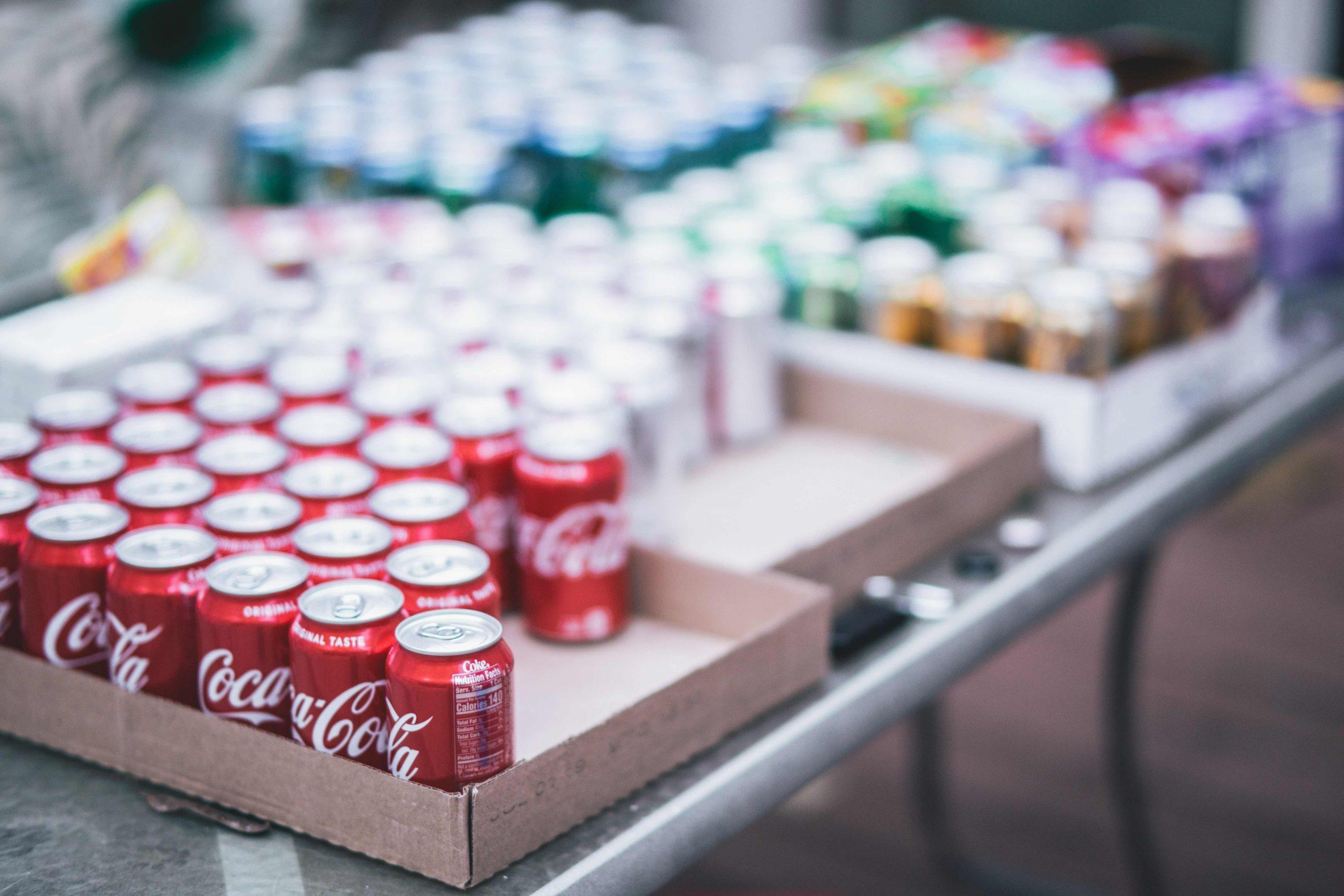 sodavand, dåse, coca-cola, cola