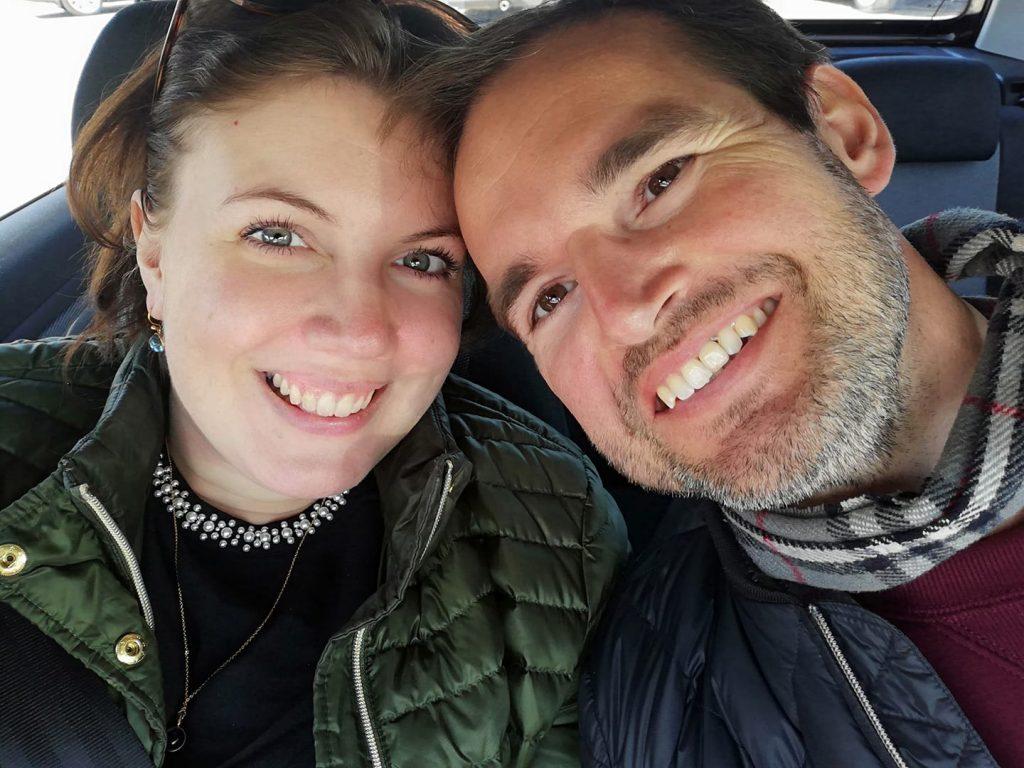 Sofie og kæresten ... Lykkelige og spændte på et dejligt liv, der venter dem. (Foto: Privat)