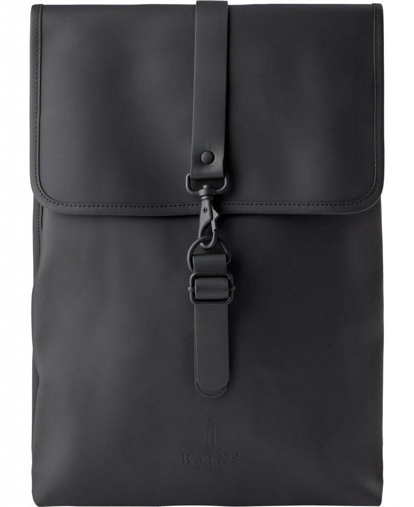rygsæk taske skoletaske rains sort black backpack vandafvisende (Foto: Magasin)
