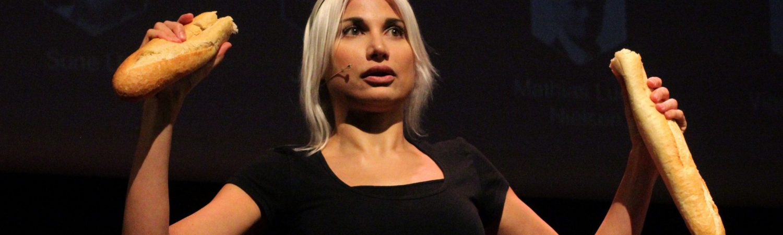 Selina Juul speaking at TED photo by Daniela De Lorenzo