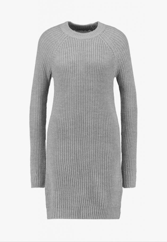 dress kjole strik grå grey (Foto: Zalando)