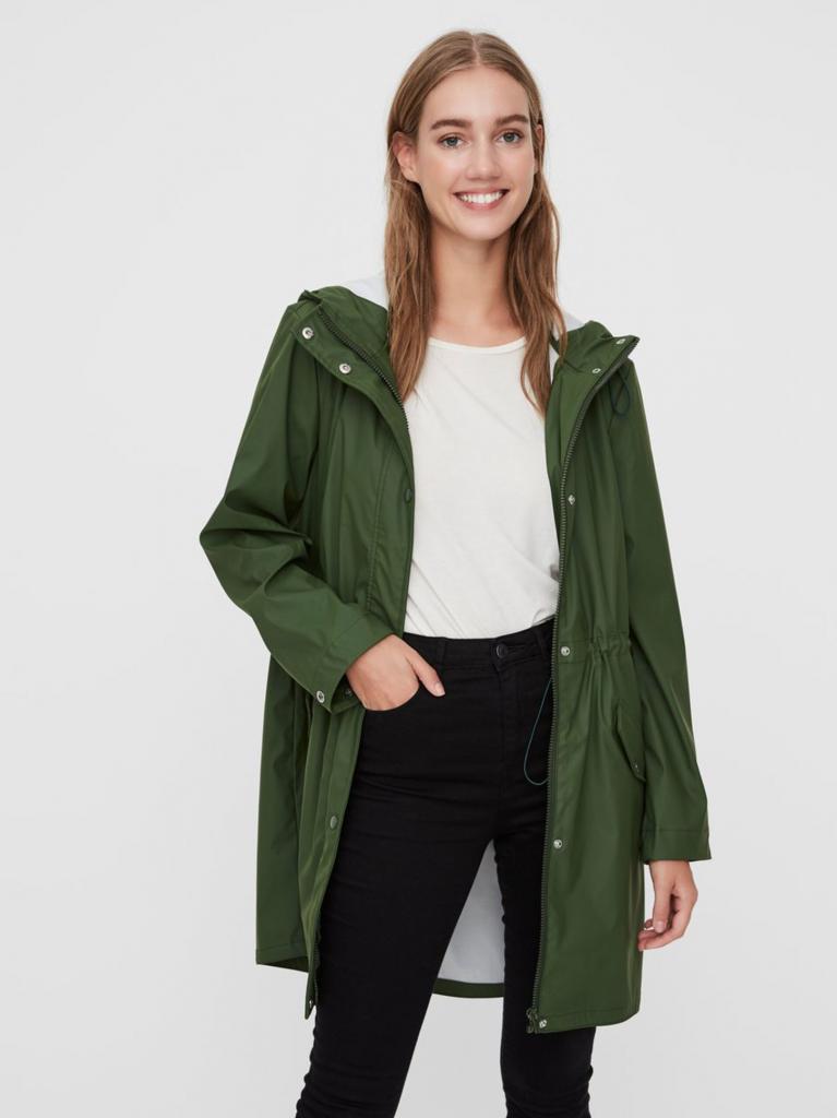 regnjakke grøn jakke jacket rain (Foto: VERO MODA)