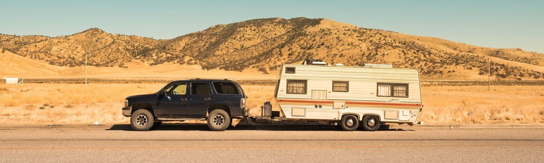 trailer, campingvogn, bil