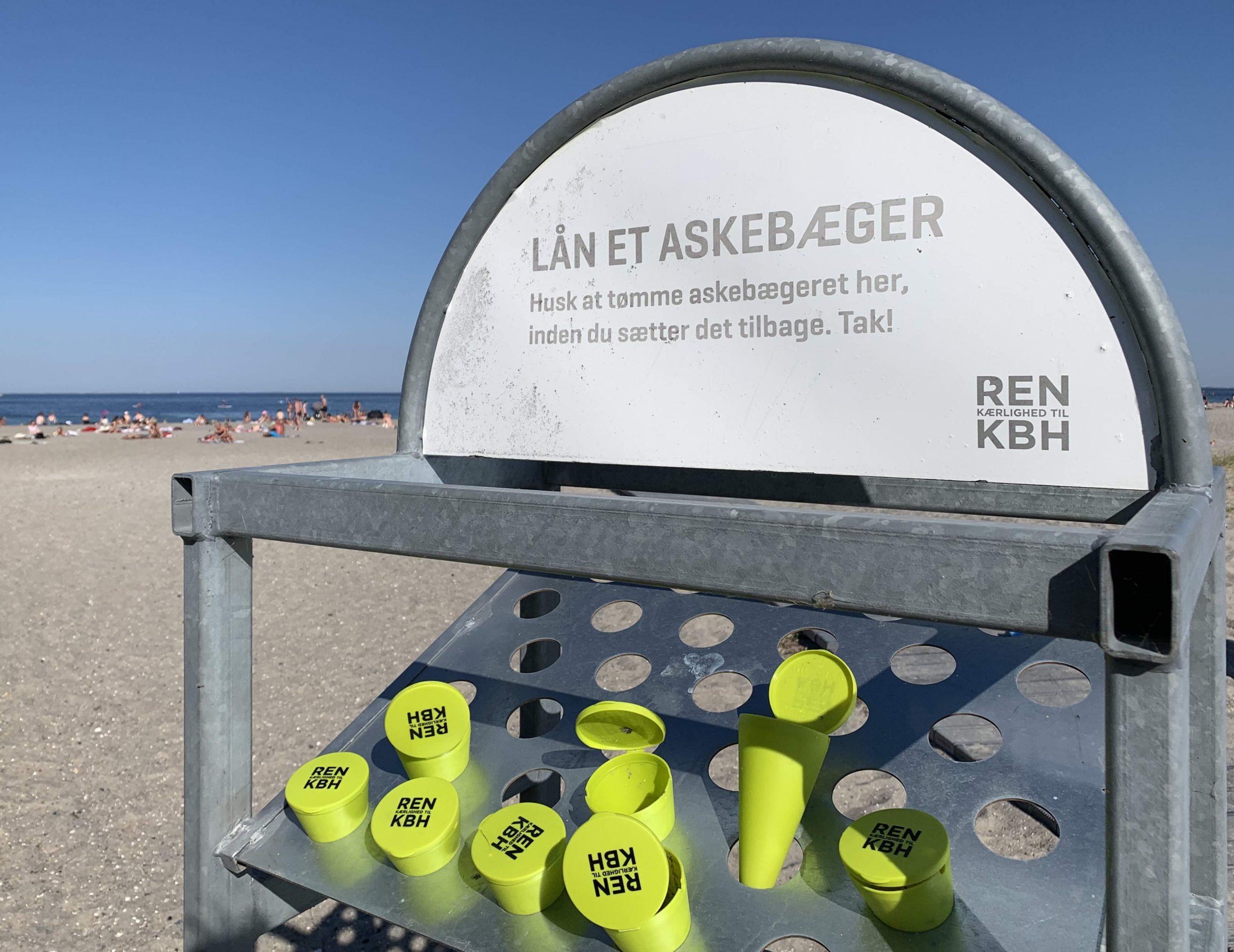 strand, røgfri, askebæger