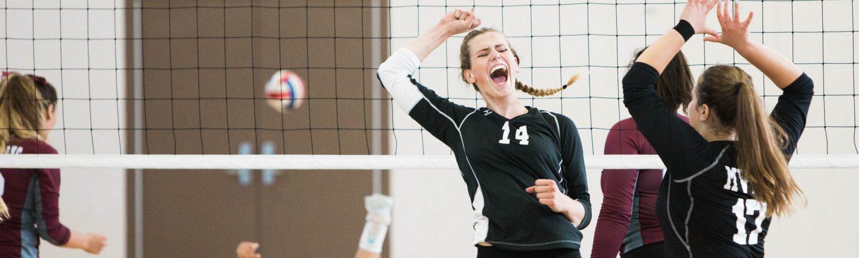 sport, kvinder, volleyball, idræt