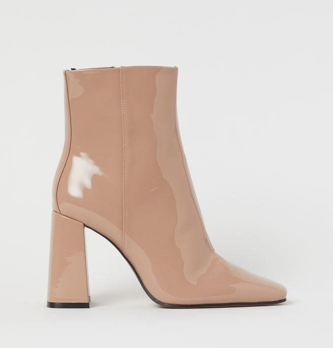 støvle, beige