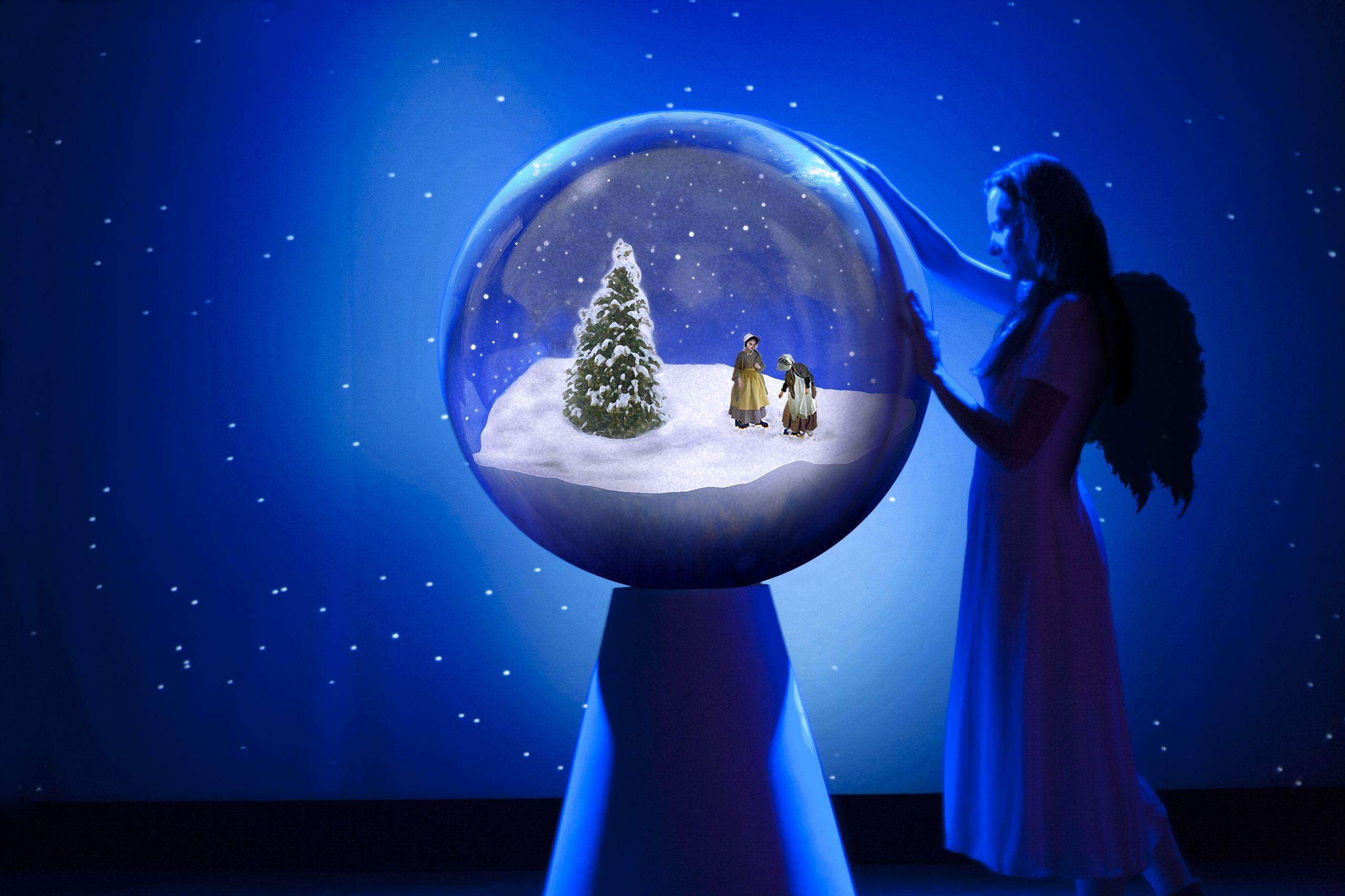englene i sneen (Foto: Folketeateret)