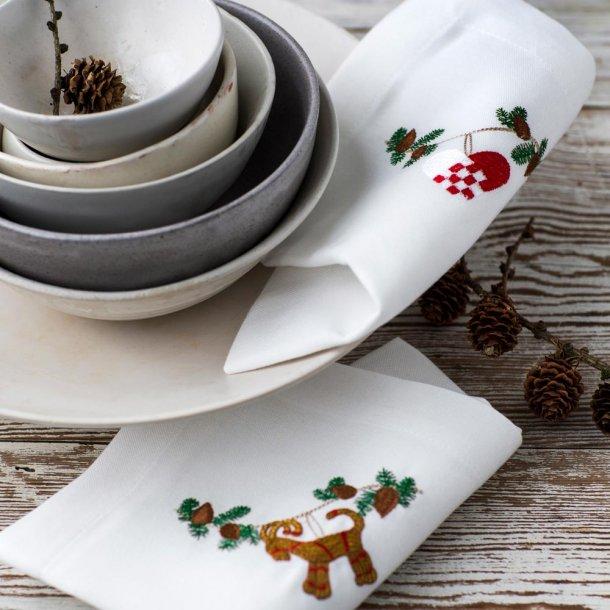 langkilde flagfabrik jul juleservietter stofservietter