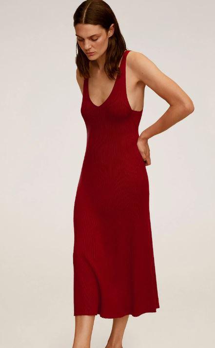 kjole mango rød