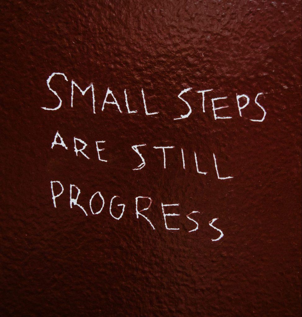 udvikling small steps små skridt citat (Foto: Unsplash)